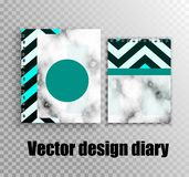 Stilvoller Entwurf für Tagebücher und Notizbücher vektor abbildung