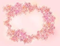 Stilvoller gekopierter Blumenhintergrund Stockfoto
