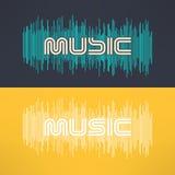 Stilvoller Hintergrund der Vektormusik mit Entzerrer Kühles T-Shirt Design Lizenzfreies Stockfoto