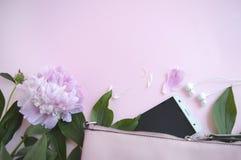 Stilvoller Hintergrund für Geschäftsfrau Copyspace nett und hell lizenzfreies stockbild