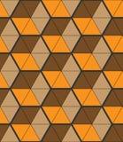 Stilvoller Hintergrund mit kleinen dreieckigen Formen, sechseckiges Gitter stockbilder