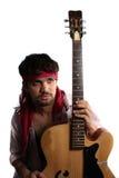 Stilvoller indischer Gitarrist stockbild