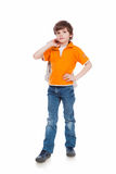 Stilvoller Junge Stockfoto