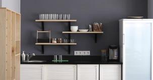 Stilvoller Kücheninnenraum stock footage