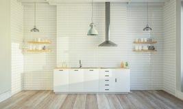 Stilvoller Kücheninnenraum lizenzfreies stockfoto