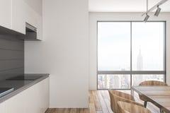 Stilvoller Kücheninnenraum mit Tageslicht stock abbildung