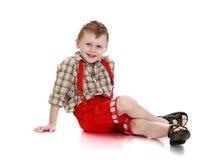 Stilvoller kleiner Junge Stockbild