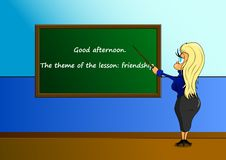 Stilvoller Lehrer Guter Lehrer stock abbildung