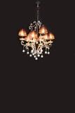 Stilvoller Leuchter auf Schwarzem Stockfoto