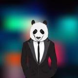 Stilvoller Panda Lizenzfreie Stockfotos