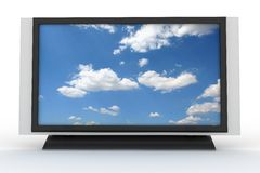 Stilvoller Plasmafernsehapparat 3 vektor abbildung