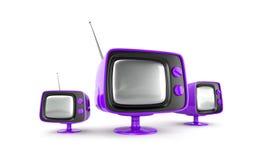 Stilvoller Retro- Fernsehapparat Stockfotografie