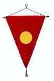 Stilvoller roter leerer Platz der Wimpel- oder Dreieckmarkierungsfahne Lizenzfreies Stockbild