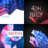 Stilvoller Satz vom 4. Juli amerikanischer Unabhängigkeitstaghintergrund lizenzfreie abbildung