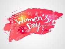 Stilvoller Text für Feier der Frauen Tages Stockfotografie