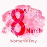 Stilvoller Text für Feier der Frauen Tages Stockfotos