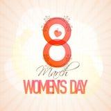 Stilvoller Text für Feier der Frauen Tages Stockbilder
