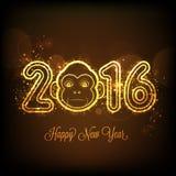 Stilvoller Text 2016 für Feier des neuen Jahres Lizenzfreies Stockbild