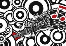 Stilvoller Vektormusik-Hintergrund Stockfotografie