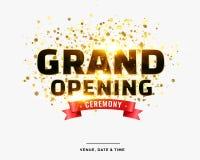 Stilvoller Zeremonie-Kartenentwurf der festlichen Eröffnung stock abbildung