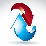 Stilvolles Aktualisierungszeichen L3d-Masche auf weißem Hintergrund, Farbe Lizenzfreie Stockbilder