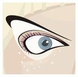 Stilvolles Auge stock abbildung