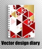 Stilvolles Briefpapier - Vektorplanentwurf für Notizblock vektor abbildung