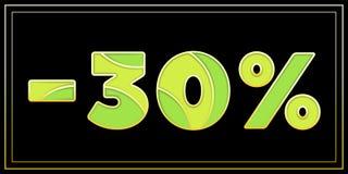 Stilvolles Emailmosaik 30-Prozent-Fahne Stockfotos