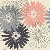 Stilvolles endloses Muster mit Kamillenblumen Stockfotografie