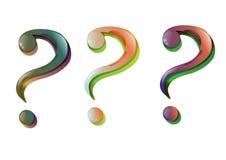 Stilvolles Fragezeichen (Vektor) Stockbild