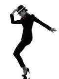 Stilvolles Frauentänzer-Tanzenschattenbild Lizenzfreie Stockfotos