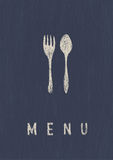 Stilvolles Gaststätte-Menü. Stockfotos