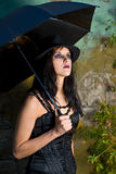 Stilvolles Goth Mädchen   Stockbilder