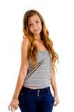 Stilvolles junges Mädchen lizenzfreies stockfoto