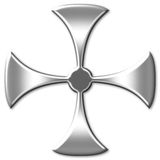 Stilvolles Kreuz Stockfotos