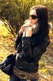 Stilvolles Mädchen. Herbst Stockbilder