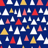 Stilvolles nahtloses Muster der dreieckigen Stücke vektor abbildung