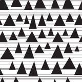 Stilvolles nahtloses Muster der dreieckigen Stücke lizenzfreie abbildung
