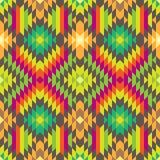 Stilvolles nahtloses Stammes- Muster für Textildesign Lizenzfreies Stockfoto