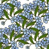 Stilvolles schönes nahtloses mit Blumenmuster Abstrakte Eleganzvektorabbildungsbeschaffenheit mit Vergissmeinnicht Lizenzfreie Stockfotos
