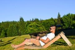 Stilysh  man  outdoor Stock Photography