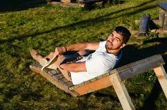 Stilysh  man  outdoor Royalty Free Stock Photo