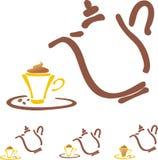Stilyzed coffee pot Royalty Free Stock Photography