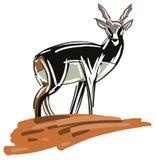 Stilyzed colorful antelope  Royalty Free Stock Photos