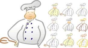 Stilyzed cook Royalty Free Stock Photography