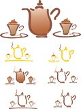 Stilyzed vector coffee pot Stock Images