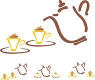 Stilyzed vector coffee pot Royalty Free Stock Photos