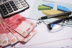 Stima e finanza fotografia stock