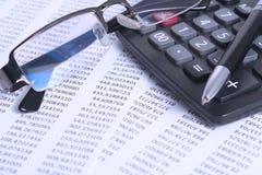 Stima e finanze Fotografie Stock Libere da Diritti