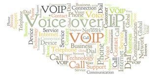 Stimme über IP-Wortwolke vektor abbildung